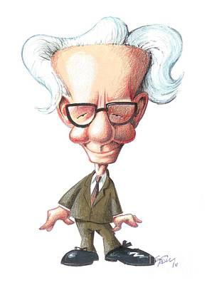 B.f. Skinner, Caricature Print by Gary Brown