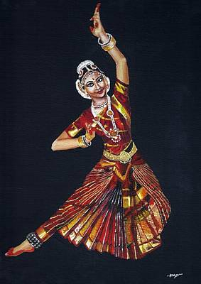 Bharathanatyam Print by Nithya