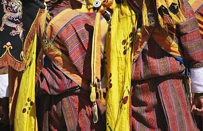 Bhutanese Ceremonial Dress Print by Michael Melford