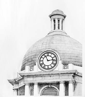 Macon Drawing - Bibb Courthouse 1 by Danyelle McDow
