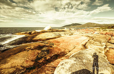 Surf Lifestyle Photograph - Bicheno Blowhole Tourist by Jorgo Photography - Wall Art Gallery
