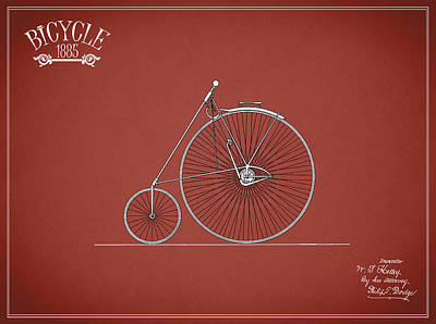 Bicycle Photograph - Bicycle 1885 by Mark Rogan