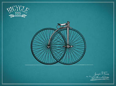 Bicycle 1889 Print by Mark Rogan