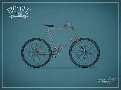 Bicycle Photograph - Bicycle 1896 by Mark Rogan