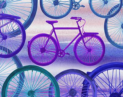 Bicycle Painting - Bicycle Dream IIi by Irina Sztukowski