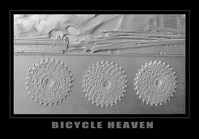 Bicycle Heaven Gears Print by Eclectic Art Photos