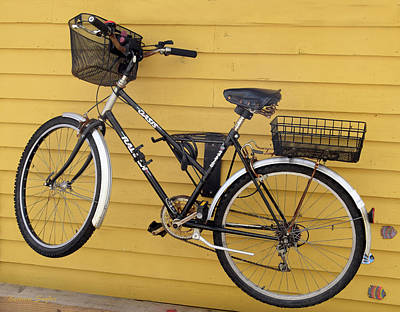 Two Wheeler Photograph - Bicycle On A Float House Victoria British Columbia by Barbara Snyder