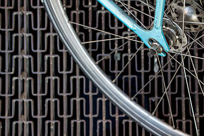 Grate Photograph - Bicycle On A Metal Grate by Phillip Schafer