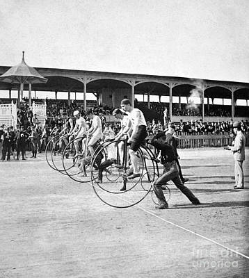 Bicycle Race, 1890 Print by Granger