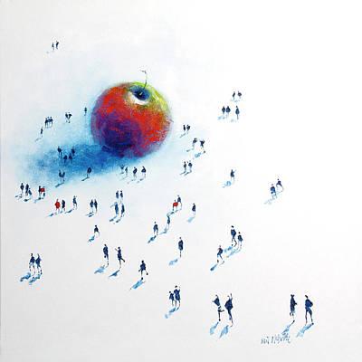 Crowds Painting - Big Apple 2 by Neil McBride