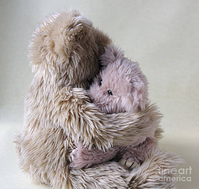 Big Bear Holds Little Bear Print by Ruby Hummersmith