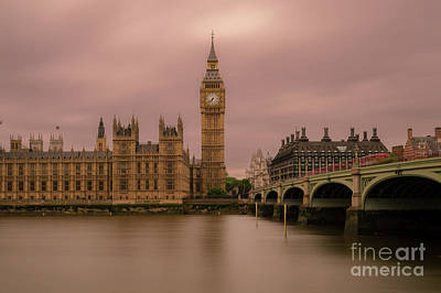 Long Street Digital Art - Big Ben And Westminster Bridge, London by Sinisa CIGLENECKI