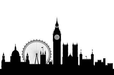 Big Ben Drawing - Big Ben, London by Leon Bonaventura