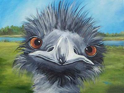 Emu Painting - Big Bird - 2007 by Torrie Smiley