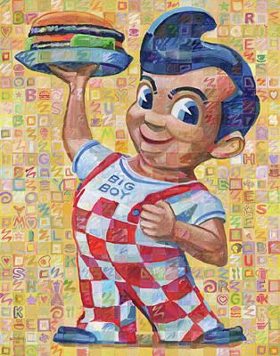 Cheeseburger Painting - Big Boy by Randal Huiskens