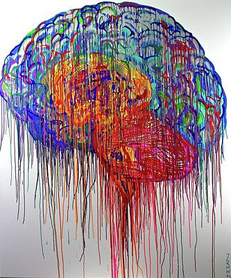 Brain Urbane Print by Jiian Chapoteau