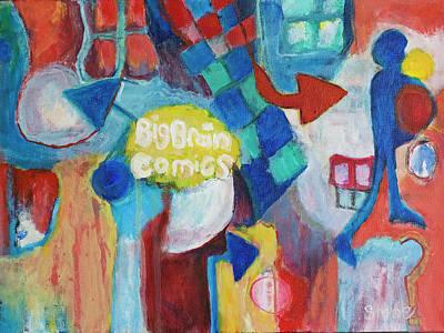 Big Brain Painting Original by Susan Stone