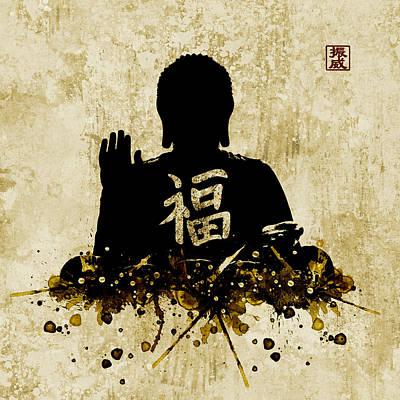 Hong Kong Mixed Media - Big Buddha Blessing by JW Digital Art