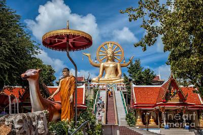 Buddhist Photograph - Big Buddha Temple by Adrian Evans