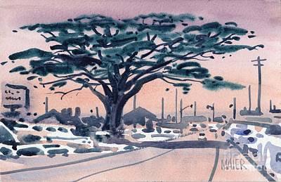 Half Moon Bay Painting - Big Cypress Half Moon Bay by Donald Maier