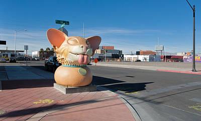 Photograph - Big Doggie - Downtown Vegas by Daniel Furon