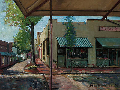 Painting - Big Eds Cafe Raleigh Nc by Doug Strickland