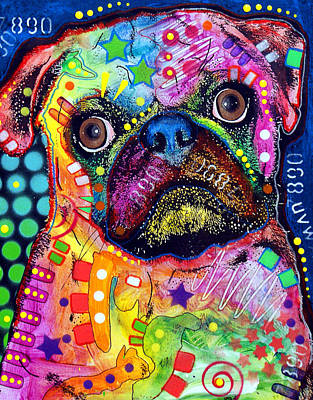 Big Eyed Pug Original by Dean Russo