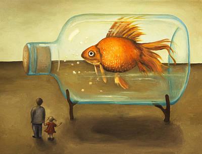 Big Fish Print by Leah Saulnier The Painting Maniac