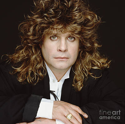Big-haired Ozzy Print by Terry O'Neill