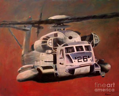 Helicopter Painting - Big Iron by Stephen Roberson