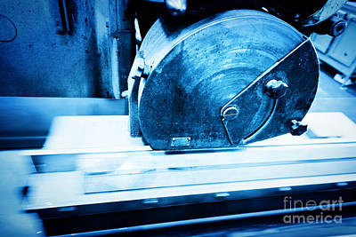 Metal Photograph - Big Metal Saw At Work In Workshop by Michal Bednarek