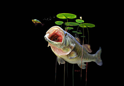 Largemouth Mixed Media - Largemouth by Gregory Doroshenko