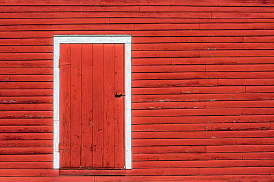 Red Barns Photograph - Big Red Door by Todd Klassy
