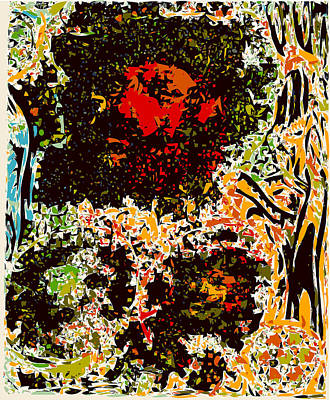 Iconography Mixed Media - Big Red Rembrandt by F Burton