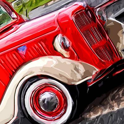 Truck Mixed Media - Big Red Truck by Brandi Fitzgerald