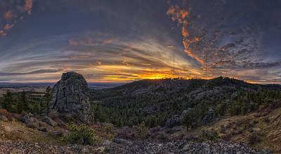 Big Rock Panorama Print by Mark Kiver