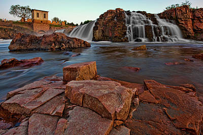 Big Sioux River Falls Print by Dan Mihai