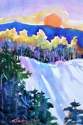 Painting - Big Sunshine Cold November by Therese Fowler-Bailey