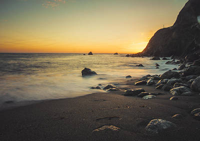Big Sur Beach Print by Lynn Andrews