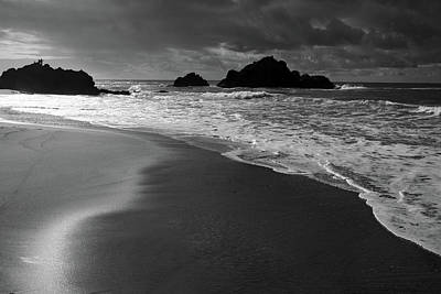 Big Sur Black And White Print by Pierre Leclerc Photography