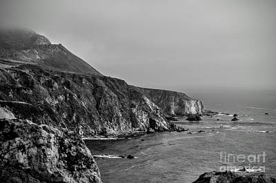 Big Sur Photograph - Big Sur Cliffs In Black And White by Rincon Road Photography By Ben Petersen