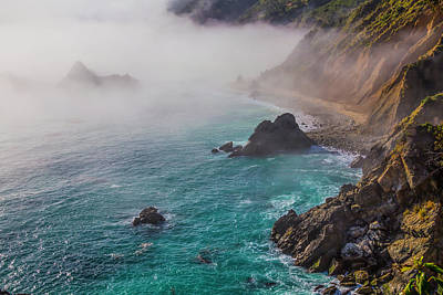Of Big Sur Beach Photograph - Big Sur Coastal Fog by Garry Gay