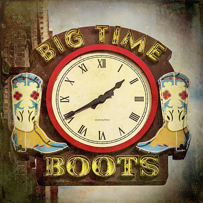 Big Time Boots - Nashville Print by Stephen Stookey