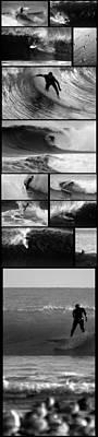 Big Wave Surfing Hawaii To California Print by Brad Scott