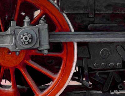 Locomotive Wheels Painting - Big Wheel by David Kyte