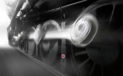 Locomotive Wheels Photograph - Big Wheels In Motion by Mike McGlothlen