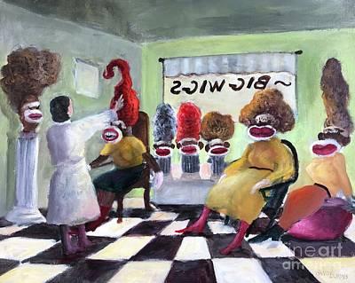 Big Wigs And False Teeth Print by Randy Burns