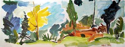 Big Yellow Poplar Print by Charlie Spear
