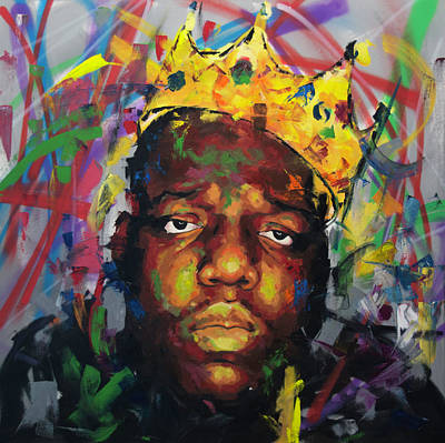 Rapper Painting - Biggy Smalls II by Richard Day