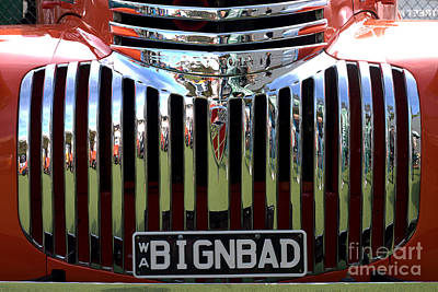Bignbad Chevrolet Grille 01 Print by Rick Piper Photography